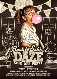 Design Cloud: Back to School Daze Party Flyer Template