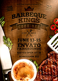 Design Cloud: BBQ Kings Cook Off Flyer Template