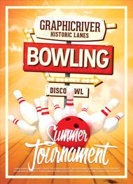 Design Cloud: Bowling Night Flyer Template