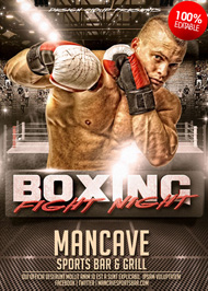 Design Cloud: Boxing Fight Night Flyer Template
