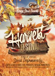 Design Cloud: Harvest Festival Flyer Template