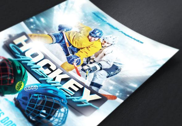 Hockey Game Night Flyer Template Themestack