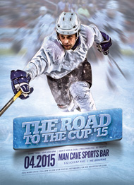Design Cloud: Hockey Road to the Cup 15 Flyer Template