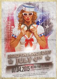 Design Cloud: Independence Day - July 4 Vol 1 Flyer Template