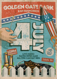July 4 Independence Day Flyer Template