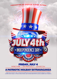 Design Cloud: July 4 Independence Day Flyer Template
