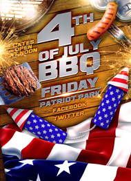 Design Cloud: July 4th BBQ Flyer Template