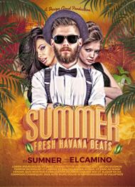 Design Cloud: Summer DJ - Fresh Havana Beats Flyer Template