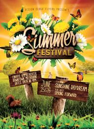 Design Cloud: Summer Festival Flyer Template