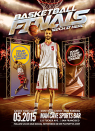 Design Cloud: The Finals Basketball Flyer Template