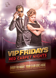 Design Cloud: VIP Fridays Red Carpet Nights Flyer Template
